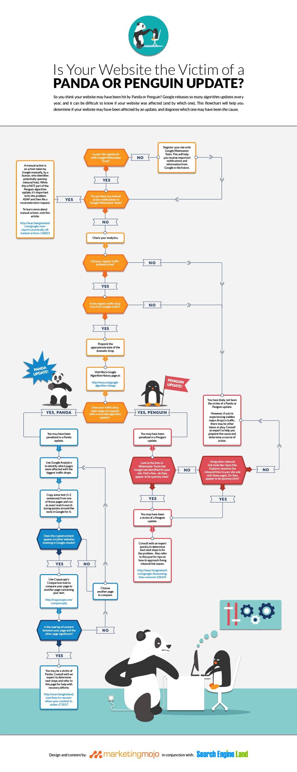 infographie panda pinguin