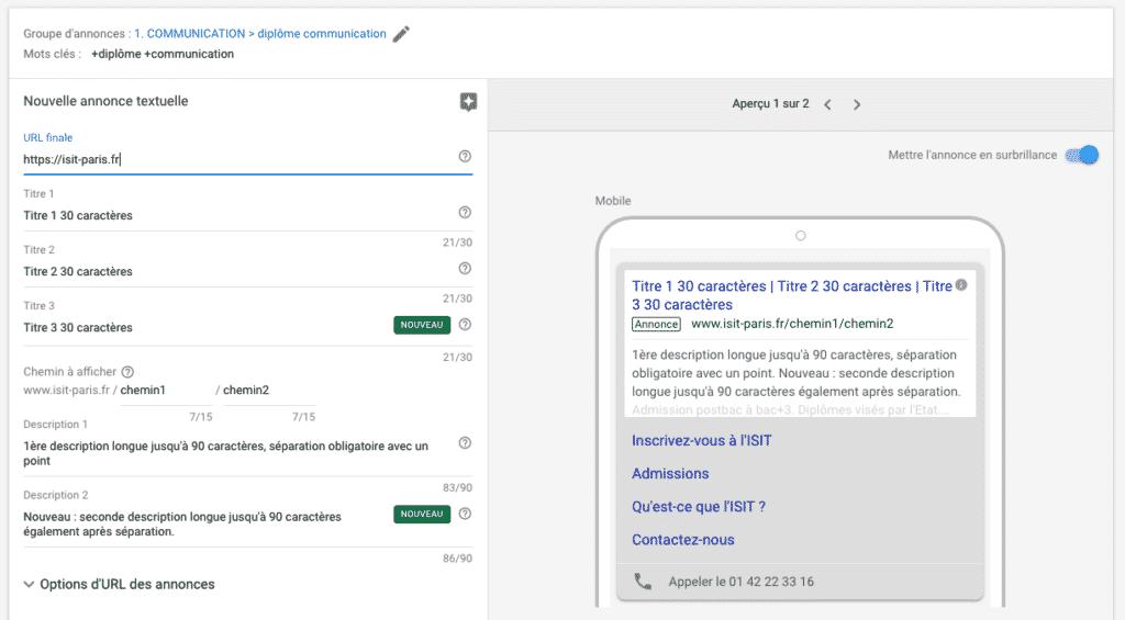 AdWords : nouvelle version et nouvelles annonces